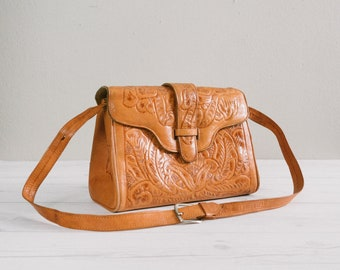 Vintage Tooled Leather Purse