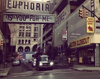 8x8 Fine Art Print: Brooklyn, Euphoria is You for Me