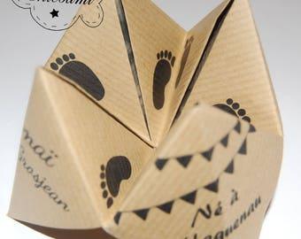 Eco Kraft price for 100 menus birth announcement