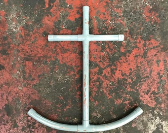 Handmade distressed copper anchor