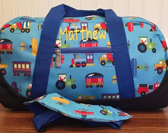 Personalized Boys Luggage, Custom Kids Duffel Bag, Sleepover Bag, Travel Gift, Kids Overnight Bag, Christmas Gifts, Baby Boy, For Boys,