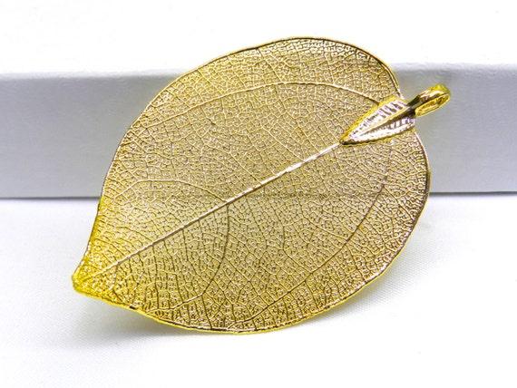 Sale natural leaf pendant gold plated pendant metallic gold gold sale natural leaf pendant gold plated pendant metallic gold gold plated leaf leaf pendant leaf jewelry leaf charm fall jewelry de genuinebeadshop en aloadofball Image collections