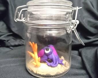 Little octopus in a jar