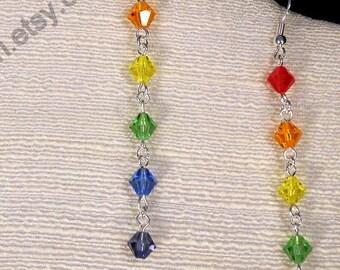 SALE   The Rainbow Drape Earrings