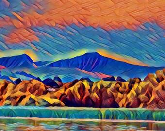 Brecon Beacons abstract