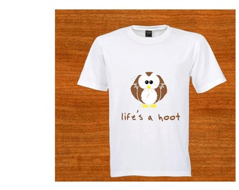 Child T-shirt. Toddler clothing. Life's a hoot. Owl. Birthday gift. Christmas gift. Baby shower gift. Kids clothing. Children's clothing
