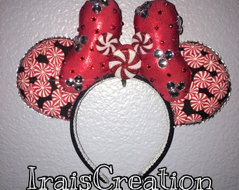 Ready to ship !!! Christmas mickey ears , candy Minnie ears