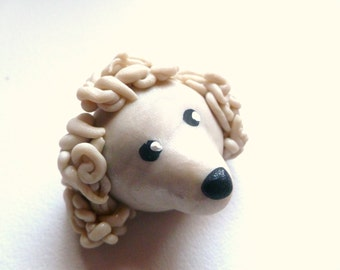 Mini Marble Friend Poodle in Icy Pearl Swirl Chinese New Year of the Dog
