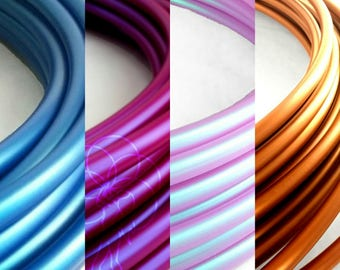 "Ombre 4 Tone Polypro Hula Hoop 3/4""or 5/8"" Collapsible for Travel- Push Pin Connection"