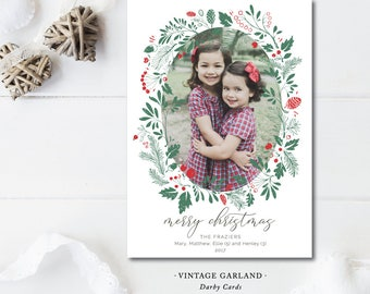 Vintage Garland Christmas Cards