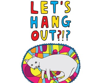 Greeting Card - Let's Hang Out