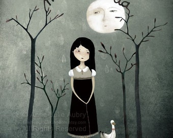 Melancholia - open edition print - Whimsical Art