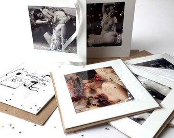 5 Naughty Erotic Greeting Cards. Your choice of 5 from 40 designs kinky Greeting Cards