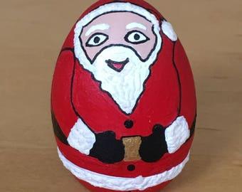 Santa kokeshi doll, egg doll,