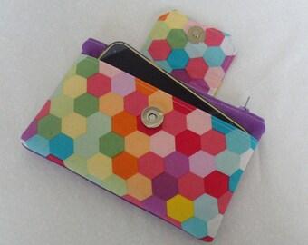 Jenna Purse PDF Sewing pattern, wallet sewing pattern, coin purse, wristlet, clutch, sewing tutorial, Zip Pouch, Wristlet, PDF pattern
