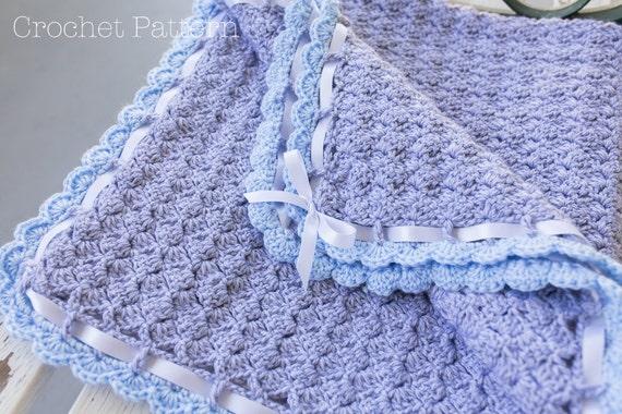 Baby Blanket Crochet Pattern Crochet Afghan Pattern Scallop