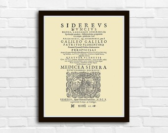 Galileo Sidereus Nuncius Poster Wall Art