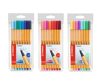 Stabilo Point 88 Fineliner 0.4mm Pen | Shades of Red | Pastel |  8 Color Pens | Art Craft Drawing Assorted Colour
