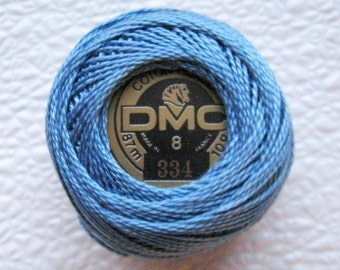 DMC Perle Cotton Thread Size 8 Medium Baby Blue 334