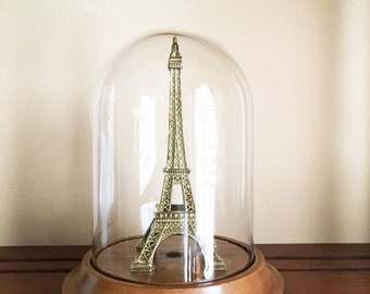 Small Vintage Glass Dome Display / Glass Cloche / Watch Dome / Display Dome / Covered Glass / Display Case