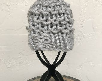 Knitted Hat - Chunky Hat - Chunky Knit Hat - Pom Pom Hat - Gift for Her - Christmas Gift