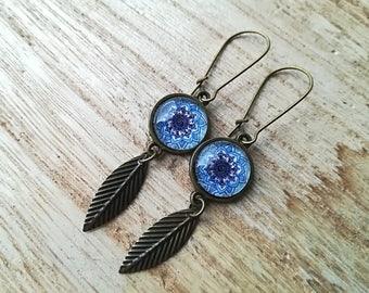 Earrings dangling • cabochons