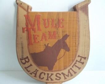 Wooden Blacksmith Sign