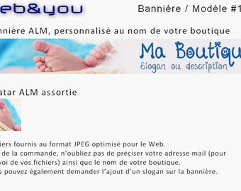Custom banner, avatar and shop 'Little foot'