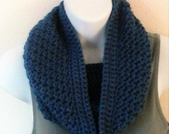 Textured Cowl - Dark Country Blue