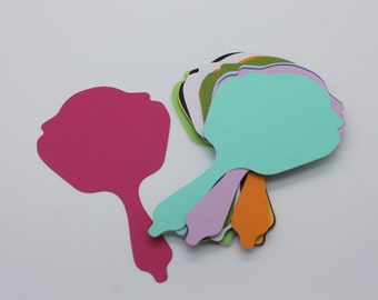 MIRROR cut cardstock paper, supply made multicolored embellishment, scrapbooking, card making, fashion, wedding