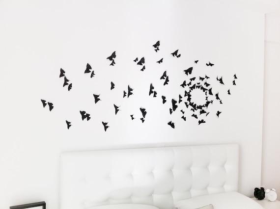 Gossip Girl Wall Art Black Butterfly Decor 3D