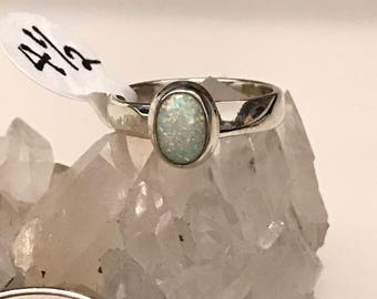 Ethiopian Opal Ring, Size 4 1/2
