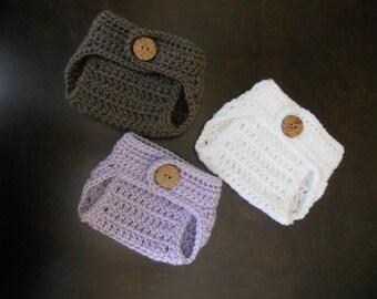Crochet Diaper Cover Newborn Photo Prop You Choose the Color