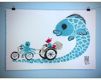 Captain and the Koi Express - Print