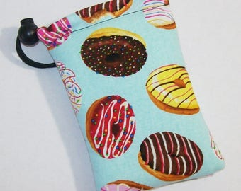 """Pipe Pouch, Doughnuts Bag, Pipe Case, Glass Pipe Bag, Padded Pipe Pouch, Stoner, 420, Weed, Donut Lover Bag, Smoke Accessory - 5"""" DRAWSTRING"""