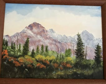 Mountains in Lavender