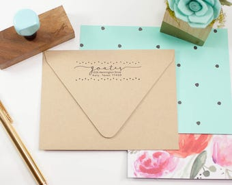 Custom Return Address, Christmas Stamp, Wedding Stationery, Robins Egg Blue, Self Inking Stamp, Housewarming, Wedding Gift, Gift Under 30