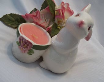 MINT Darling Vintage AVON Easter Bunny Candle Holder - Collectible - Easter - Easter Decor - Vintage