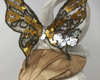 Silber & Gold Schmetterling Fascinator