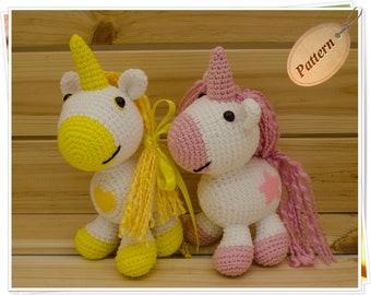 Crochet Unicorn Pattern, Amigurumi Unicorn Pattern, DIY Unicorn, Unicorn PDF, Unicorn Toy Pattern, Unicorn Tutorial, Unicorn Digital