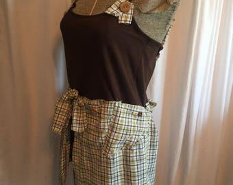 Upcycled XL tunic, upcycled tunic, upcycled XL, upcycled clothing, Xl tops, xl tunics, xl clothing, recycled tunics, mens shirt refashioned