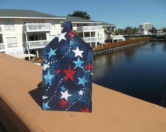 Red, White and Blue Stars Luggage Tag