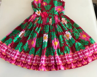 Girls bespoke flowery dress