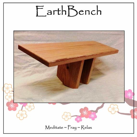 OAK MEDITATION BENCH Kneeling Pi-style