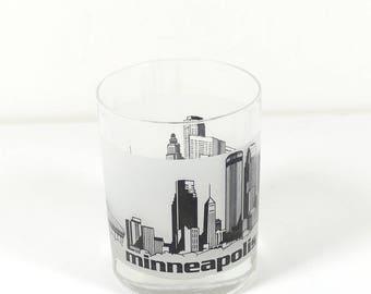 MSP Minneapolis St. Paul Airport Rocks Glass Whiskey Glass - Pilot Airport Flight Attendant Air Traffic Controller Gift