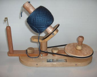 RESERVED Yarn Ball Winder by Wood That It Whir, Handmade Yarn Ball Winder, large capacity, Crochet, Knitting, Yarn Spinner, Ball Winder