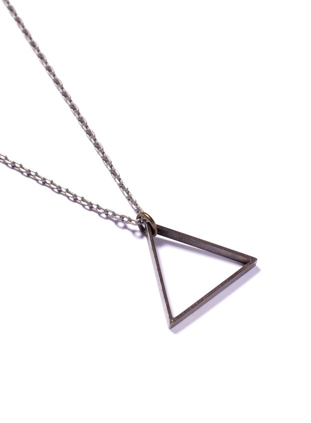 Triangle necklace mens necklace mens jewelry zoom mozeypictures Images