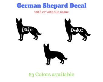 German Shepard vinyl decal / personalized dog decal / German Shepard decal / dog decal / personalized German Shepard