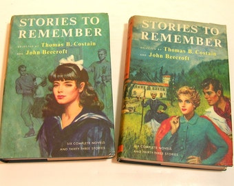 Stories To Remember  Novel And Short Story Anthology Two Vintage Book Set