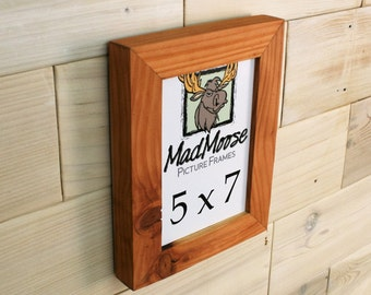 """5x7 Reclaimed Redwood [Chunky x 1.25""""] Picture Frame"""